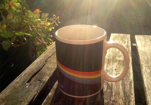 Morgenkaffe i den lille have